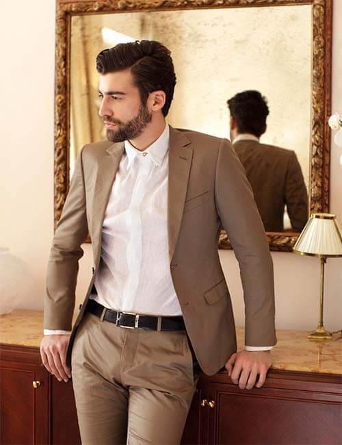 Dark Brown Men's Suit |ร้านสูท พพร บริการตัดสูท ชุดสูท