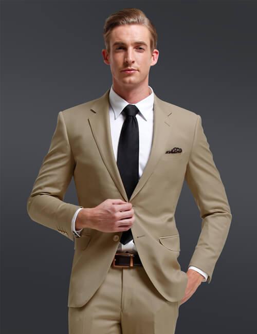 Tan/Khaki Men's Suit |ร้านสูท พพร บริการตัดสูท ชุดสูท