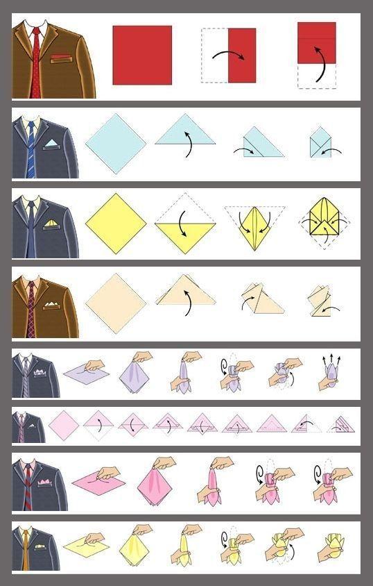 วิธีพับผ้าเช็ดหน้าใส่กระเป๋าเสื้อสูท แบบ Three Point|ร้านสูท พพร บริการตัดสูท ชุดสูท